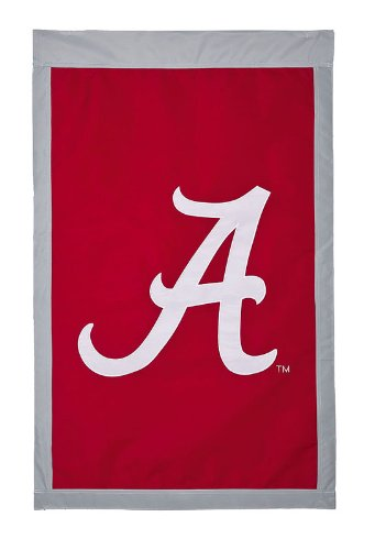 Evergreen Enterprises Alabama Crimson Tide Applique House Flag (One Size 28