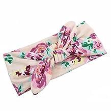 GOOTRADES Kids Baby Girl Floral Bowknot Headband Turban Knot Head Wrap (B)