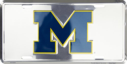 Michigan Wolverines NCAA College License Plate 6 x 12 inches
