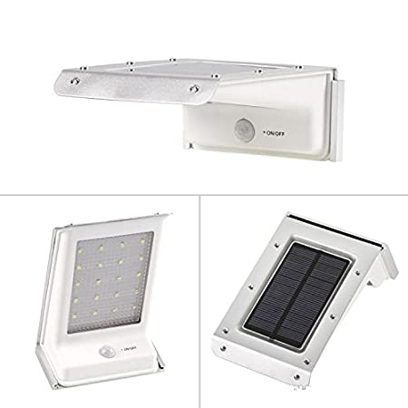 Jewelscart Solar Led light 2Nd Gen 16 Led Solar Power Motion Sensor Garden Security Lamp Outdoor Waterproof Light Even Usefull for Balcony Decoration - Stays On Throughout The Night