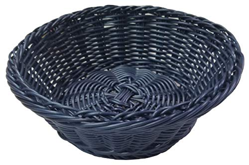 Woven Restaurant Table Top Bread Basket Navy Blue Color 1 Unit Island - Blue Bread Baskets