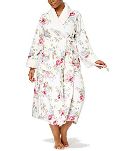 Charter Club Super Soft Wrap Robe, Rose Bouquet Print 2X