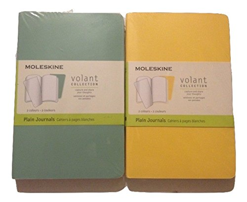 Volant Collection (Moleskine Volant Collection - Plain Journals (2 Packs of Two 3.5 x 5.5) Blue &)