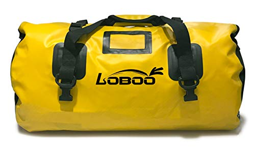 (LOBOO Waterproof Bag 66L Motorcycle Dry Duffel Bag for Travel,Motorcycling, Cycling,Hiking,Camping)