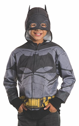 Book Characters Costumes For 11 Year Olds (Rubie's Costume Batman v Superman: Dawn of Justice Batman Child Hoodie, Large)