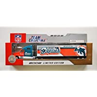 $24 » Fleer 2002 LIMITED EDITION NFL MIAMI Team Collectible 1:80 Scale Diecast Kenworth Tractor Trailer - DOLPHINS