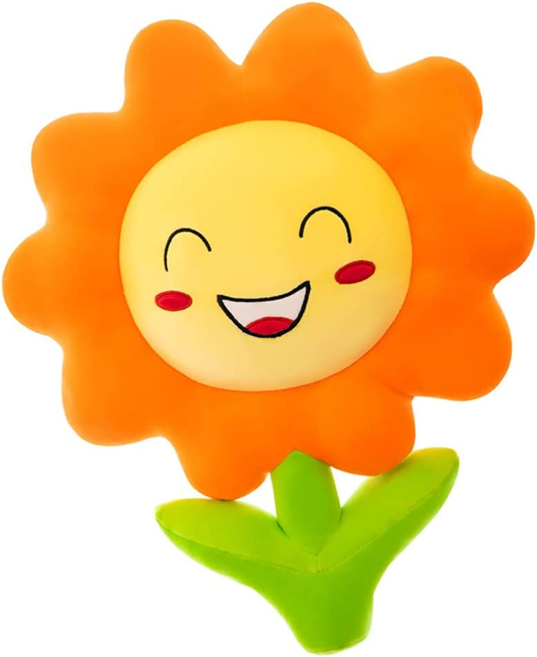NUOBESTY Flower Plush Pillow Cute Seating Cushion Throw Pillow Sunflower Plush Toy Car Sofa Pillow Bed Cushion for Chair Couch Bed
