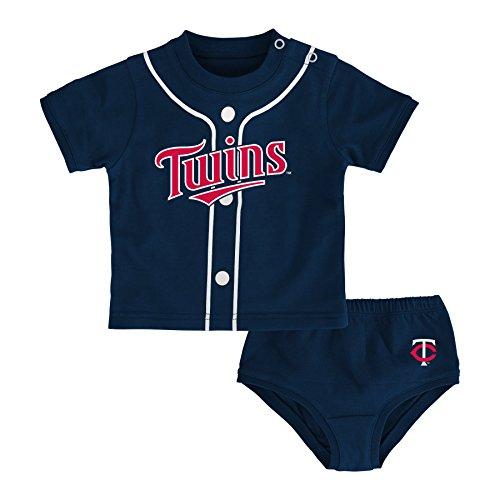 MLB Minnesota Twins Newborn Boys Little Player-0/3 Months, Athletic (Minnesota Twins Player)