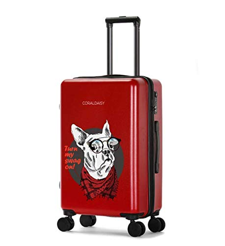 ユニバーサルホイールトロリーケースラゲッジスモールフレッシュスーツケース (Color : Red, Size : L)   B07MQQ1YNJ