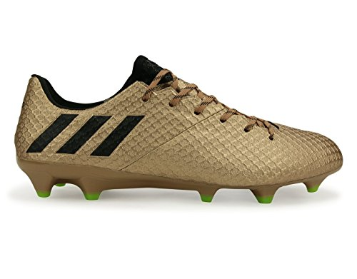 Mens Adidas Messi 16.1 Fg Rame Metallico / Nucleo Solare Scarpe Da Calcio Nero / Verde