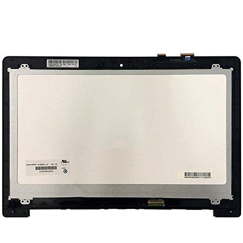 (YCLM 15.6'' LED LCD Touch Screen for Asus Vivobook S500 S500C S500CA Display Complete Assembly N156BGE-L41 W/Bezel)