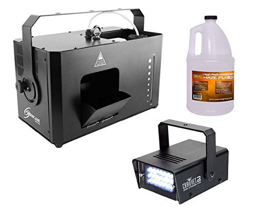 (Chauvet Hurricane Haze 4D HHAZE4D Machine + Mini Strobe LED Light + Fluid Gallon )