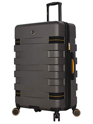 Lucas Luggage Hard Case Large 31' Expandable Suitcase With Spinner Wheels (31in, Wanderlust Dark Grey)