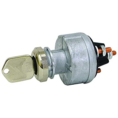 Tectran 19-1187 Ignition/Starter Switch (, Position 4, Base Style 1, Mounting Style 4, Starter Lockout N): Automotive