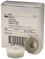 """Scotch-Brite(TM) Roloc(TM) Bristle Disc 07528, Roloc Quick-Change Attachment, Ceramic Aluminum Oxide, 2"""" Diameter, 120 Grit, White (Pack of 10)"""