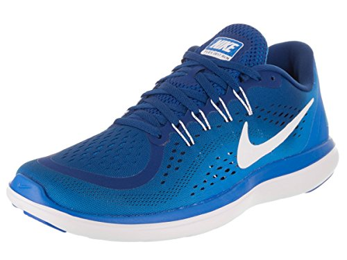 Nike Men's Flex 2017 Rn Gym Blue/White - Photo Ankle-High Running Shoe 10M