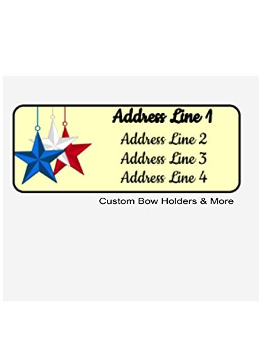 Personalized Address Labels, Fourth Of July Stars, Set Of 60, Personalized Independence Address Labels, 4th Of July Labels, Memorial Day, Labor Day ()
