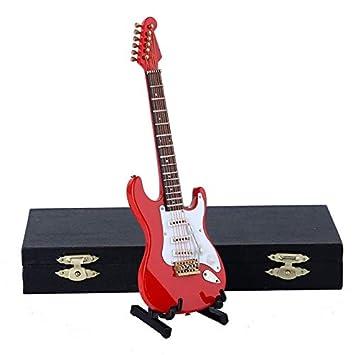 ZAMTAC - Guitarra eléctrica Miniatura para Guitarras y Funda de Calidad: Amazon.es: Hogar