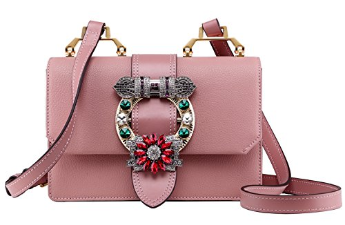 02cd833986ee LA FESTIN Ladies Cute Bags Dazzling Jewels Shoulder Chain Purse Leather -  Buy Online in Oman.