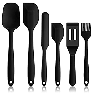 SPEEDTON Silicone Spatula SiliconeSpatula Set Kitchen silicone utensils Heat Resistant Rubber Spatula Set For Non Stick Cookware Cooking Baking Mixing Kitchen Utensils 6pcs one set