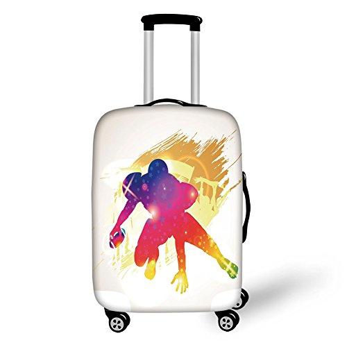 Travel Luggage Cover Suitcase Protector,Pond Japanese Garden Monte Carlo Monaco