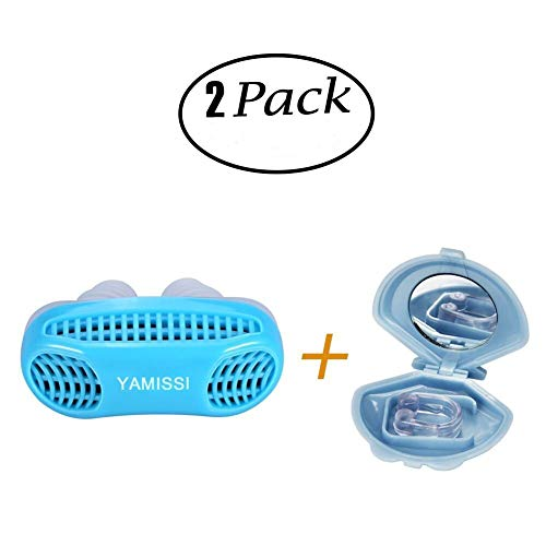 Anti-Snoring Device:Sleep Aid- 50% OFF SALE Airing,2 Pack of Silicone Air Purifier Filter Snore Stopper Device Chin Strap,Stop Snoring,Get the Restful Night you Deserve,with Travel Case -Yamissi