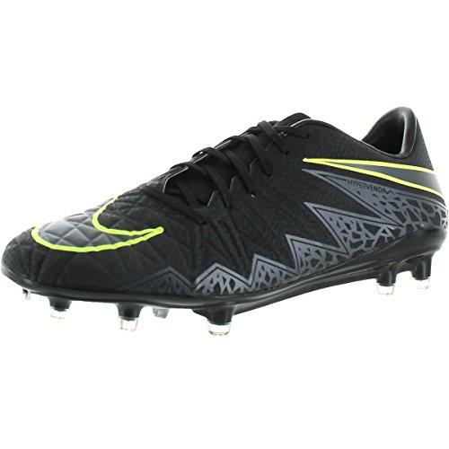 b0bae9ddb107 NIKE Mens Hypervenom Phatal II FG Soccer Patterned Cleats Black 6 Medium (D)