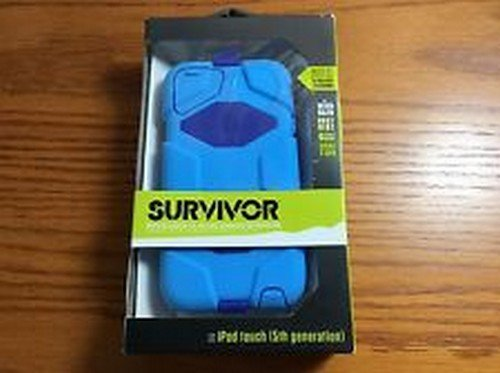 Griffin Survivor Military Case with Belt Clip for iPod Touch 5th Generation (RD36587) - Blue / Dark Blue by Griffin