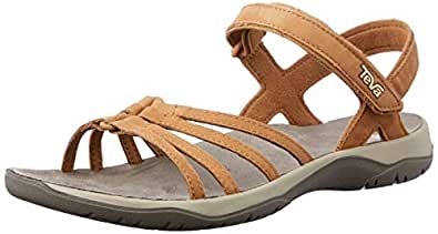 Teva Women's ELZADA Hiking Sandal, Lea Pecan, 5 US