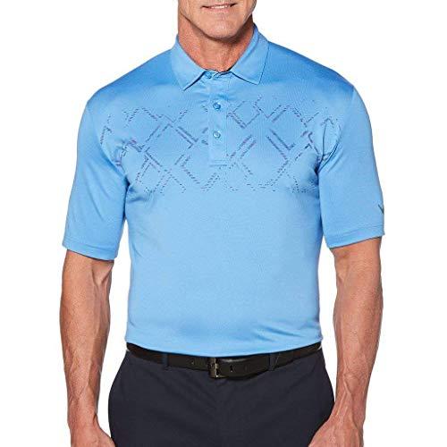 Callaway Big and Tall Argyle Print Golf Polo Shirt (Marina 4X)