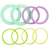 Casabella Silicone Rolling Pin Spacer Bands, Multicolor, Set of 8