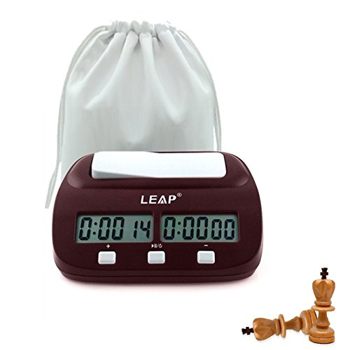 LingYe Professional Digital Chess Clock Count Up Down Timer with Clock And Game Timer with Bonus and Delay With storage bag