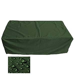 Muebles de Jardín Premium Funda Protectora/mesa de jardín Lona B 350cm x t 250cm x h 96cm verde oliva