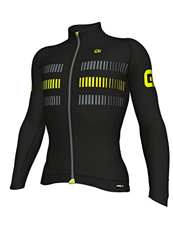 Racing Ale Homme Strada Maillot Longues Noir jaune Manches a4wHq