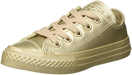 Converse Unisex-Kinder CTAS Ox Metallic Synth Leather Low-Top Oro (Gold/Gold/Gold)