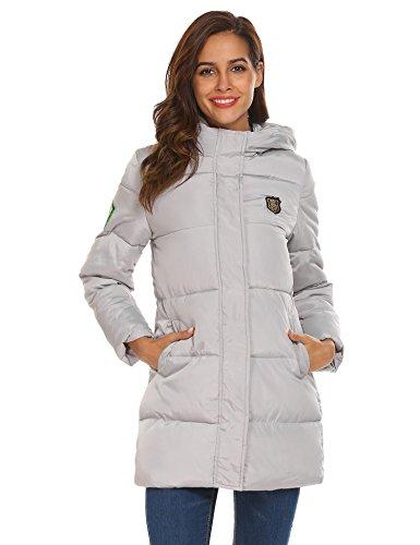 2019 auténtico moda más deseable estilo actualizado Zeagoo Mujer Abrigo Acolchado Impermeable Invierno Apliques Ultra-Caliente  Chaqueta con Capucha