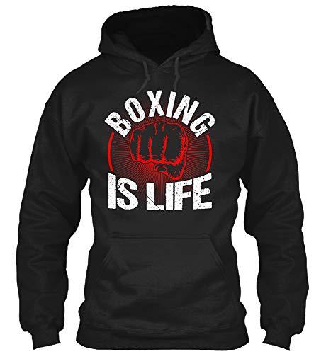 Boxing Sports Player. XL - Black Sweatshirt - Gildan 8oz Heavy Blend Hoodie