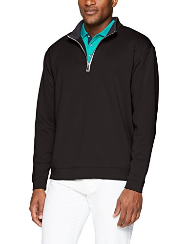 Pebble Beach Men's Golf Long Sleeve 1/4 Zip Pullover with Contrast Trim