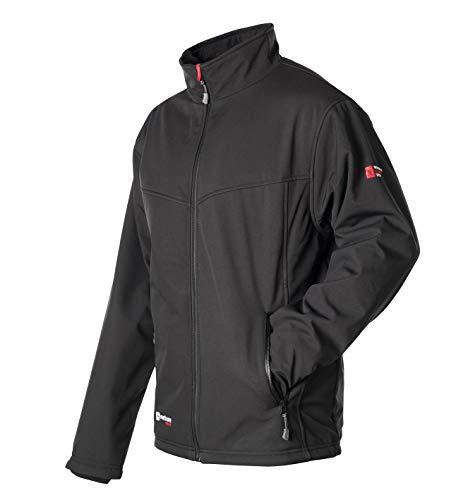 VentureHeat Men's Escape USB Battery Heated Softshell Jacket (Black,Large)
