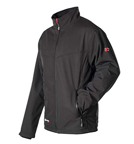Men Venture Jacket - VentureHeat Men's Escape USB Battery Heated Softshell Jacket (Black,Large)