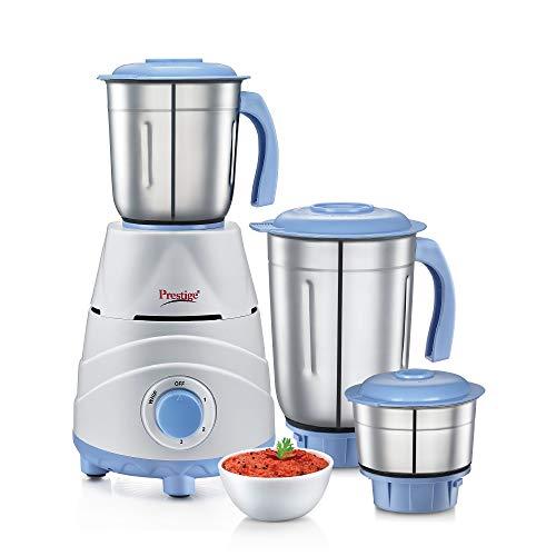 Prestige TEZ 550W Mixer Grinder with 3 Jars , Blue