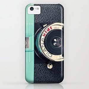 Society6 - Blue Diana Mini Camera - Retro Vintage Photography iPhone & iPod Case by AC Photography