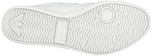 Armani Sneaker Low Cut, Scarpe Basse Uomo Bianco (Bianco)