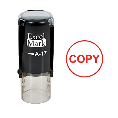 ExcelMark COPY Self-Inking Rubber Stamp (A17-Red Ink)