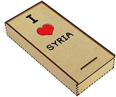 Azeeda I Love Syria Estuche de lápices de Madera ...