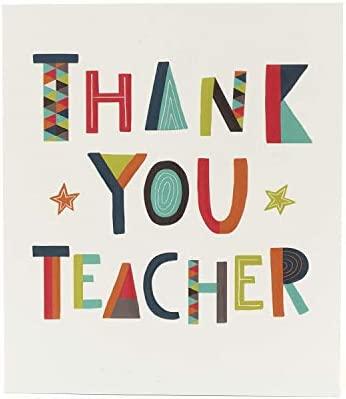 Tarjeta de agradecimiento para profesor, tarjeta de agradecimiento, tarjeta de regalo