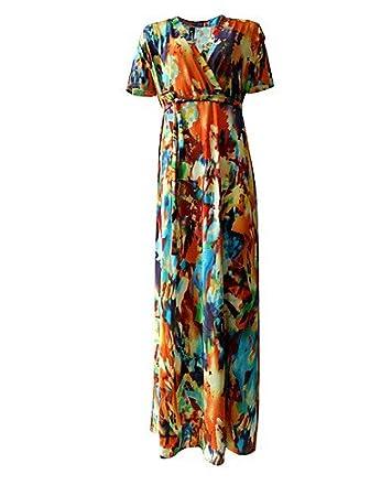 ed2da7b2781f Xiaotiantian Women s Plus Size   Casual Daily Vintage Loose Dress ...