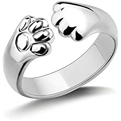 Showfay Adjustable Ring Cat Ring Cute Kitten Claws Finger Ring for Girls