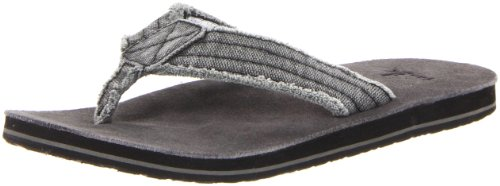 Sanuk Men's Fraid Not Flip FlopCharcoal 11 M US by Sanuk