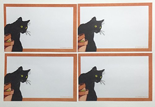 [Black Cat Sticky Notes 4 packs] (Cute Halloween Gifts For Coworkers)